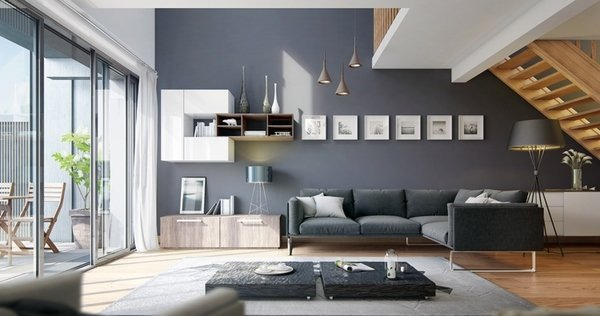 best wohnzimmer design grau ideas - home design ideas, Moderne deko