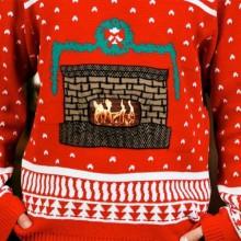 animierten hässlich christmas sweater Ideen Kaminsims