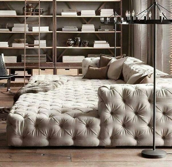 awesome square couch Tuft-couch, beige, Polster-modernen-Möbeln ...