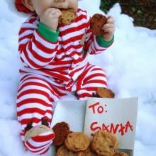 beste Weihnachts-Foto-Ideen baby Weihnachten Fotos cookies