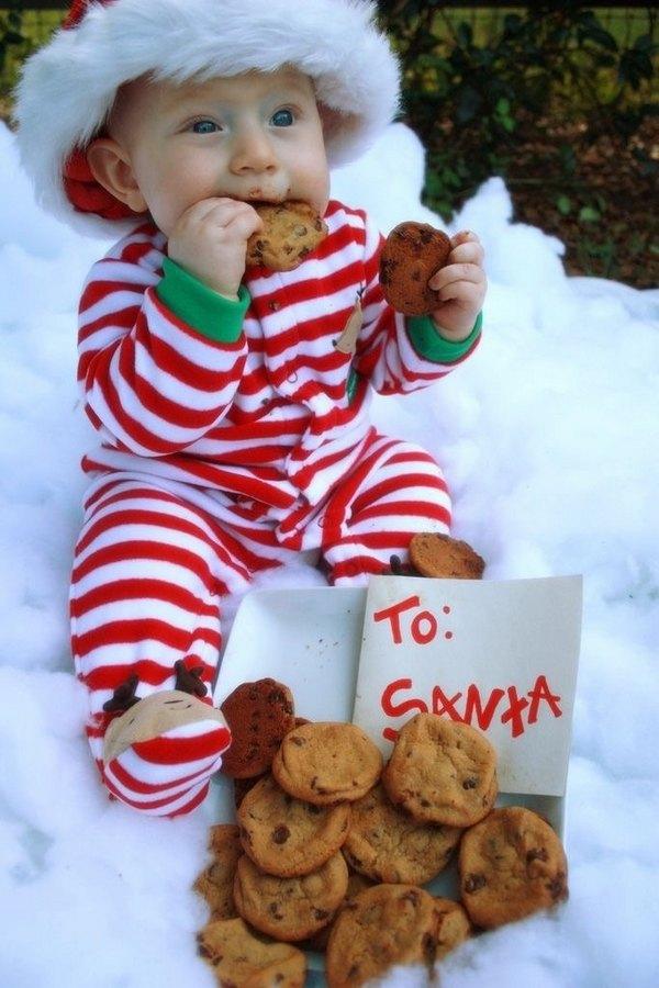 Beste weihnachts foto ideen baby weihnachten fotos cookies - Baby bilder ideen ...