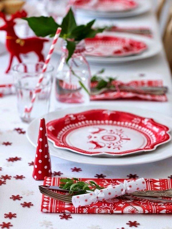 Beste Weihnachts Tisch Deko Ideen Awesome Rot Weiss Weihnachten