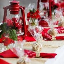 besten Weihnachts-Tisch-Deko-Ideen-Silber-blauen Farben ball Ornamente Glitzer-Kerze-Halter