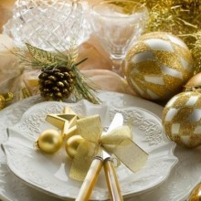 besten Weihnachts-Tisch-Deko-Ideen gold Tischkarten, Tischläufer
