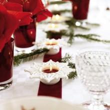 besten Weihnachts-Tisch-Deko-Ideen-rot weiß Dekoration Laternen Servietten