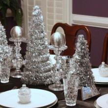 besten Weihnachts-Tisch Silber Dekor-Ideen Dekoration Herzstück Ideen