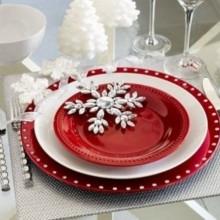 besten Weihnachts Tischdekoration Herzstück Ideen Weidenzweigen-gold-Silber-Ornamente