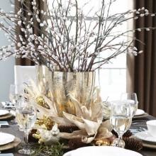 besten Weihnachts Tischdekoration elegante Tisch-Einstellung weiß Silber Tischset