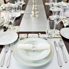 besten Weihnachts-Tischdekoration modern Christmas Dekor weiß Niederlassungen Herzstück Schneeflocken