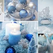 blau Silber winter wonderland Dekorationen, Farben, Themen, Ideen