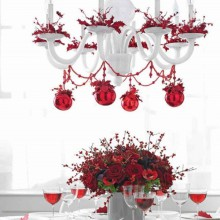 christmas table-Ideen, Blumen-Mittelstück schöne Dekoration