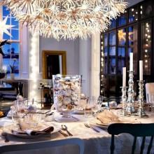 classic weiß rot Weihnachten Tischdekoration festlicher Tisch Deko Blume Mittelstücke