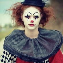- clown make-up-Ideen für Frauen DIY clown make-up traurige clown