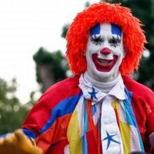 clown make-up Ideen, halloween-Kostüm happy clown
