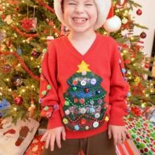 diy hässliche Weihnachts-Pullover-Ideen, Kinder Pullover, lustige Weihnachtsgeschenke