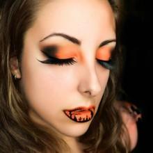 einfaches halloween make-up Ideen-Schädel-Tag der Toten