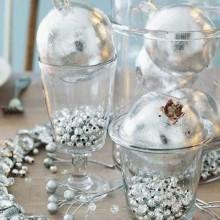 einfaches weißes gold Weihnachten Tisch Dekoration elegante Tisch-Einstellung