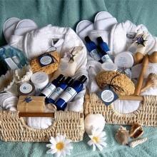 eleganten Geschenk-Korb Ideen spa-Produkte Weihnachten Geschenkideen