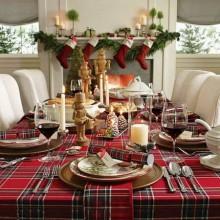 fabelhafte Weihnachten Tischdekoration gold-glitzernde Kerzen Leuchter Geschirr