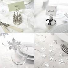 faszinierenden rot-weiße Weihnachts-Tisch-Deko-Ideen rote Tischläufer Silber raindeer e1444735193948