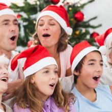 fun Weihnachten Familienfotos Elfen Kostüme christmas card ideas