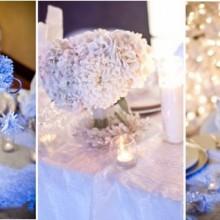 genial winter-Tisch-Deko-Ideen, Kerzen, Lichter, Blumen