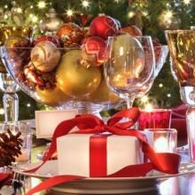 glamouröse gold Weihnachten Tisch Dekoration Ideen Geschirr gold fugures