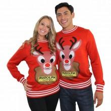 hässliche Weihnachts-Pullover-Ideen für Paare DIY Rudolph sweater