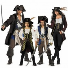 halloween-Kostüme halloween-Kostüme für Familie Piraten