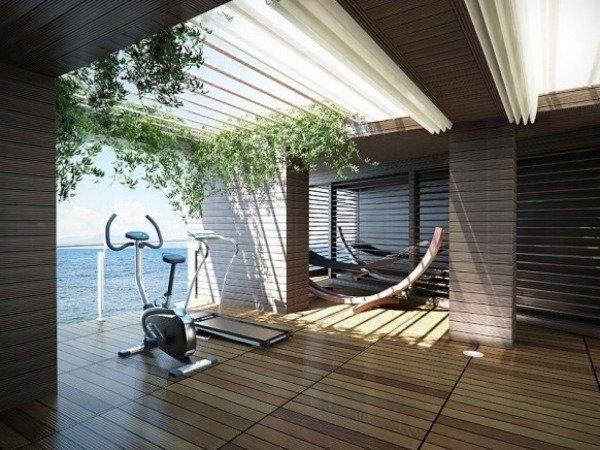 Holz Möbel passen perfekt zum Laminat Bodenbelag