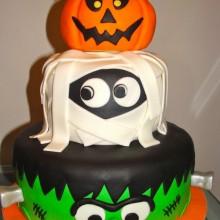 lustigen Halloween-Kuchen-Dekoration Mumie, Kürbis