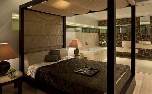 master-Schlafzimmer-design-Ideen-poster-Bett, ensuite-Badezimmer ...
