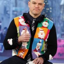 matt damon hässliche Weihnachts-Pullover-Ideen