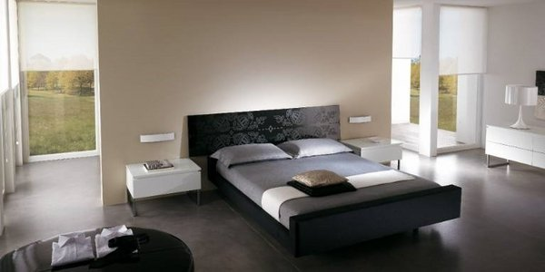 minimalistischen Schlafzimmer-Möbel-Bett-design-Ideen schwarz-Bett ...