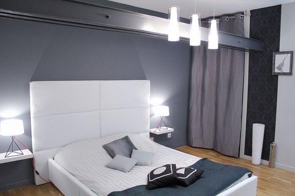 modernen bachelor-Schlafzimmer-Ideen trendy Grau Wand Farbe weiß ...
