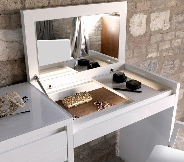moderner weißer Schminktisch mit Spiegel-Schlafzimmer-Möbel-Ideen ...
