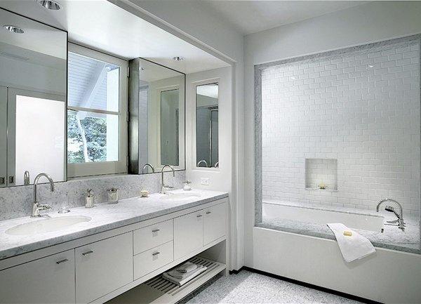 Modernes badezimmer farben elegante wei e badezimmer for Design badezimmer weiss