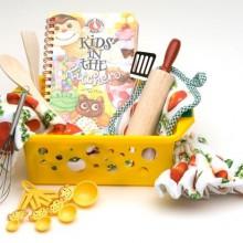 niedlichen Weihnachts-Geschenk-Korb für Kinder Idee baking book