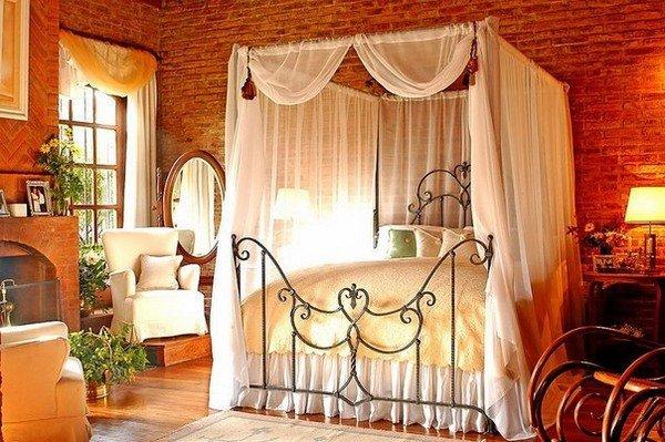 romantisches Schlafzimmer einrichten Licht