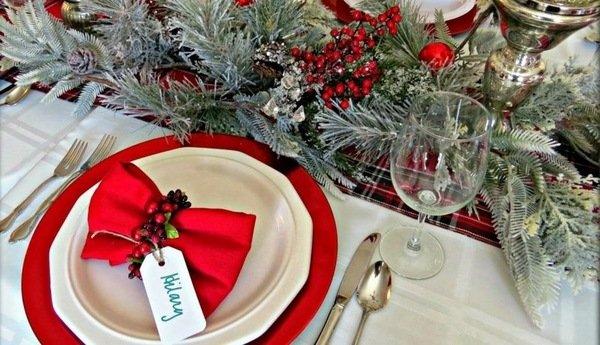 Rot Weiss Weihnachten Tisch Deko Ideen Tee Kerzen Tablewear Rote