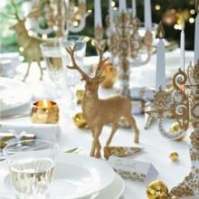 rot weiß Weihnachten Tisch Dekoration Ideen Blume Herzstück
