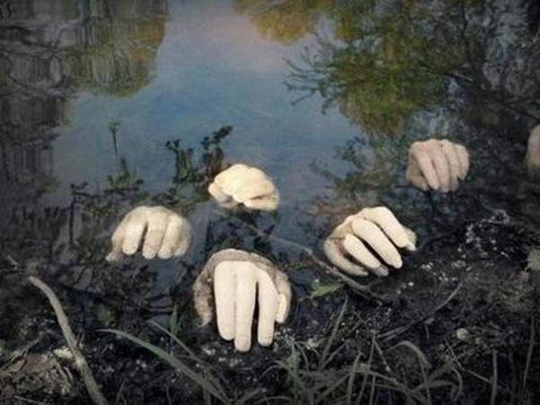 Scary Halloween Deko Ideen Garten Dekoration Zur Falschen Hande Kunstop De