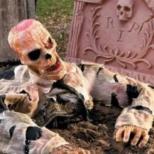scary Halloween Garten Deko-Ideen zombie-Grab-Grabstein