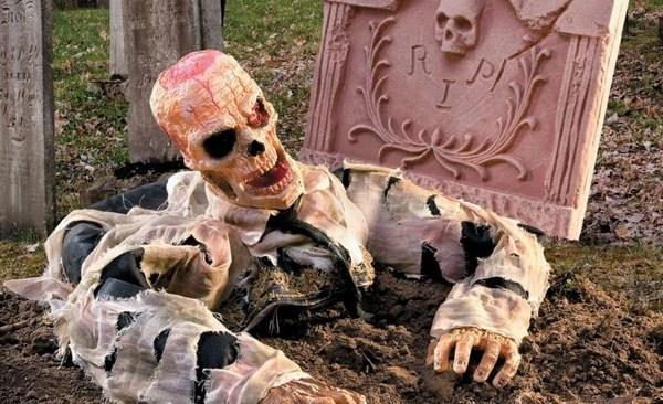 Scary Halloween Garten Deko Ideen Zombie Grab Grabstein Kunstopde
