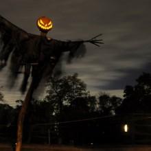 scary halloween-Dekorationen Vorgarten Dekor-Ideen für gruselige scarecrow