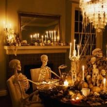 scary halloween party Dekoration Ideen Esszimmer-Dekoration-Tisch Deko-Ideen