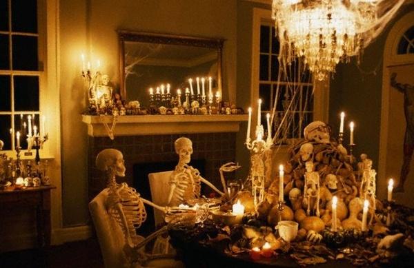 Scary halloween party dekoration ideen esszimmer dekoration tisch