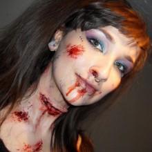 schnelle und einfache halloween make-up Ideen, Vampir-make-up Kunstblut