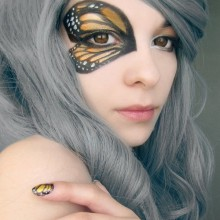 simple Einfache Halloween make-up Ideen, DIY halloween-make-up-Schmetterling