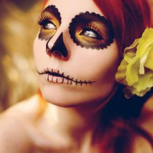 simple halloween makeup ideas skull Day of the dead